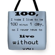 If You Live To Be 100 - Blue Tote Bag