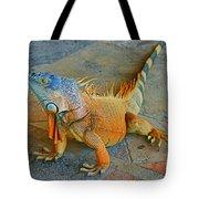 Iguana At The Restaurant  Tote Bag