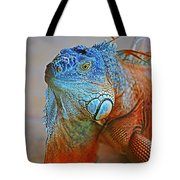 Iguana Close-up Tote Bag