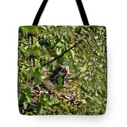 Iguana Hiding In The Bushes Tote Bag