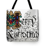 Illuminated Letter M Tote Bag