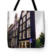 Illusion Of A Two Dimensional Building In Amsterdam Tote Bag