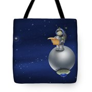Illustration Of A Cartoon Astronaut Tote Bag