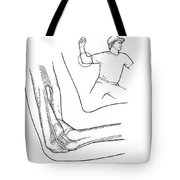 Illustration Of Elbow Ligaments Tote Bag