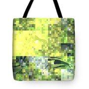Impatience Geometric Yellow Tote Bag