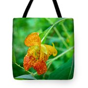 Impatiens Capensis - Orange Spotted Jewelweed Tote Bag