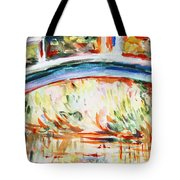 Impressions On Monet Painting Of Pond With Waterlilies  Tote Bag