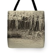 In A Yellow Wood Antique Tote Bag