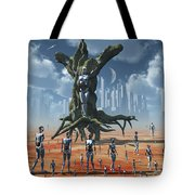 In An Alternate Reality Cyborgs Pay Tote Bag