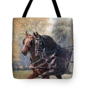 In Double Harness. Illustration By Lucy Tote Bag