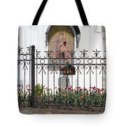 In Front Of Church Tote Bag