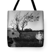 In My Dreams I Am A Little Girl Bw Tote Bag