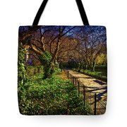 In The Conservatory Garden Tote Bag