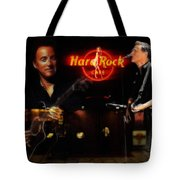In The Hard Rock Cafe Tote Bag