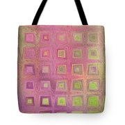 In The Pink With Squarish Squares  Tote Bag