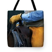 In The Saddle Again Tote Bag