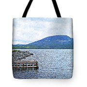 In The Shelter Of The Blue Cliff Tote Bag