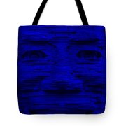 In Your Face In Blue Tote Bag