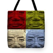 In Your Face In Colors Tote Bag