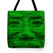 In Your Face In Green Tote Bag