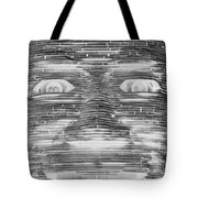 In Your Face In Neagtive Tote Bag