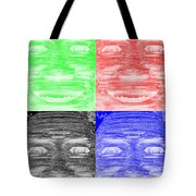 In Your Face In Negative Colors Tote Bag