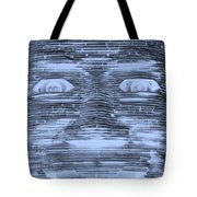 In Your Face In Negative Cyan Tote Bag