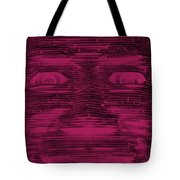 In Your Face In Negative  Hot Pink Tote Bag