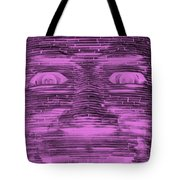 In Your Face In Negative Light Pink Tote Bag