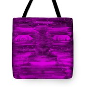 In Your Face In Negative Purple Tote Bag