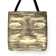 In Your Face In Negative Sepia Tote Bag