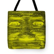 In Your Face In Negative Yellow Tote Bag