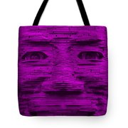 In Your Face In Purple Tote Bag