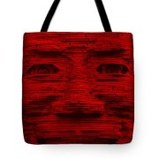 In Your Face In Red Tote Bag