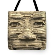 In Your Face In Sepia Tote Bag