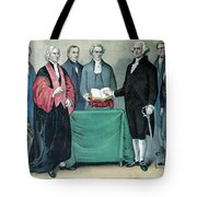 Inauguration Of George Washington, 1789 Tote Bag by Photo Researchers