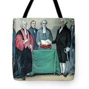 Inauguration Of George Washington, 1789 Tote Bag