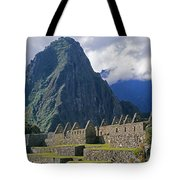 Inca Structures Stand Below Mount Tote Bag