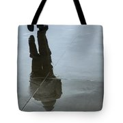 Inclement Winter Pedestrian Tote Bag