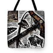Indian Buffalo Jawbone Tomahawk Tote Bag