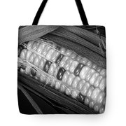 Indian Corn Black And White Tote Bag