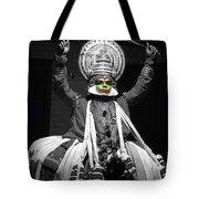 Indian Kathakali Dance Of Kerela 2 Tote Bag by Sumit Mehndiratta