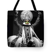 Indian Kathakali Dance Of Kerela 2 Tote Bag