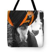 Indian Man Wearing Turban Tote Bag