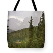 Indian Peaks Colorado Rocky Mountain Rainy View Tote Bag