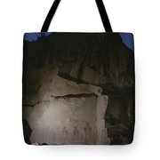 Indian Pictographs Are Illuminated Tote Bag