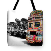 Indian Truck Tote Bag