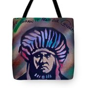 Indigenous Motto Earth Tones Tote Bag