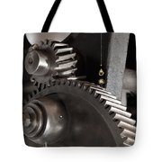Industrial Gears Whith Oil Drops Tote Bag