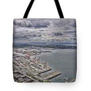 Industrial Harbor Tote Bag